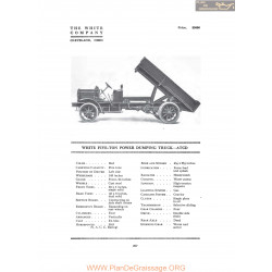 White Five Ton Power Dumping Truck Atcd Fiche Info 1916