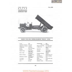 White Five Ton Power Dumping Truck Atcd Fiche Info 1917