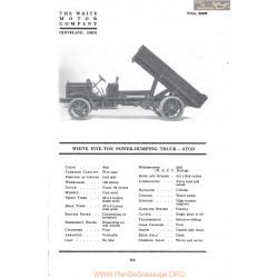 White Five Ton Power Dumping Truck Atcd Fiche Info Mc Clures 1917