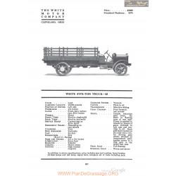 White Five Ton Truck 45 Fiche Info 1920