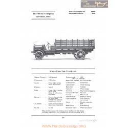 White Five Ton Truck 45 Fiche Info 1922