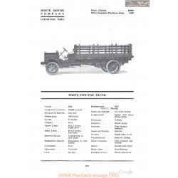 White Five Ton Truck Fiche Info 1918