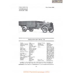 White Five Ton Truck Tg Fiche Info 1919
