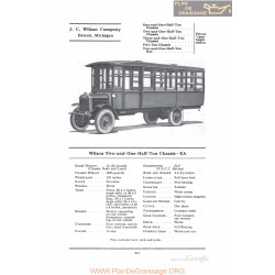Wilson Two And One Half Ton Chassis Ea Fiche Info 1922