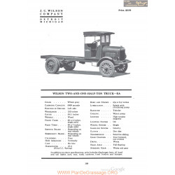 Wilson Two And One Half Ton Truck Ea Fiche Info 1920