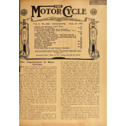 The Motor Cycle 1907 02 February 13 Vol05 N0203 The Organisation Of Motor Cyclists