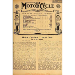 The Motor Cycle 1907 02 February 20 Vol05 N0204 Motor Cyclits I Have Met