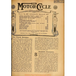 The Motor Cycle 1907 03 March 27 Vol05 N0209 Our Fourth Birthday