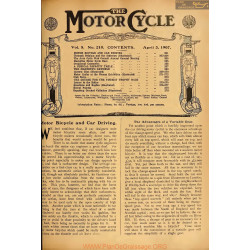 The Motor Cycle 1907 04 April 03 Vol05 N0210 Motor Bicycle And Car Driving
