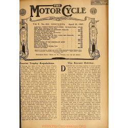 The Motor Cycle 1907 04 April 10 Vol05 N0211 Tourist Trophy Regulations