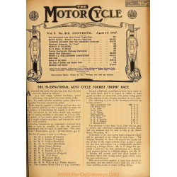 The Motor Cycle 1907 04 April 17 Vol05 N0212 The International Auto Cycle Tourist Trophy Race