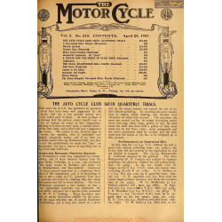 The Motor Cycle 1907 04 April 24 Vol05 N0213 The Auto Cycle Club Sixth Quarterly Trials