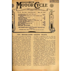 The Motor Cycle 1907 05 May 15 Vol05 N0216 The Brooklands Racing Track