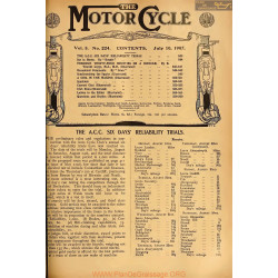 The Motor Cycle 1907 07 July 10 Vol05 N0224 The Acc Six Day S Reliability Trials