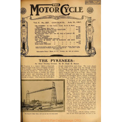 The Motor Cycle 1907 07 July 31 Vol05 N0227 The Pyrenees