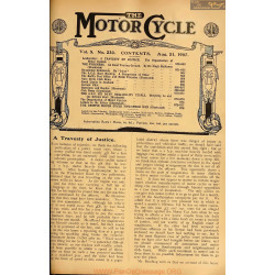 The Motor Cycle 1907 08 August 21 Vol05 N0230 A Trvesty Of Justice