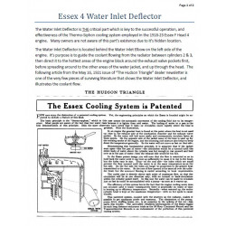 Essex 1918 1923 4 Water Inlet Deflector Bulletin