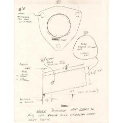 Essex 1918 1923 4 Water Inlet Deflector Measured Drawing