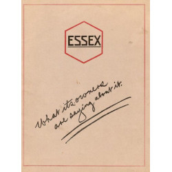 Essex 1920 Whatits Owners Are Saying