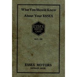 Essex 1921 Owners Instruction Manual