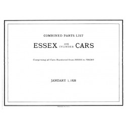 Essex 1924 27 Parts List