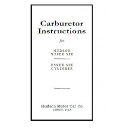 Essex 1924 28 Carburetor Inst