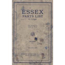 Essex 1926 Parts List