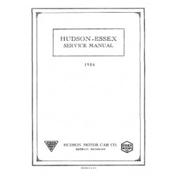 Essex 1926 Shop Manual