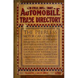 Automobile Trade Directory Motorcycle Motor Boat 1910