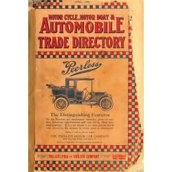 Automobile Trade Directory Motorcycle Motor Boat April 1910