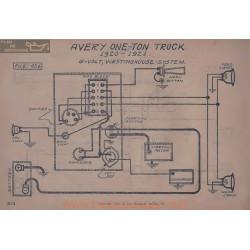 Avery One Ton Truck 6volt Schema Electrique 1920 1921 Westinghouse