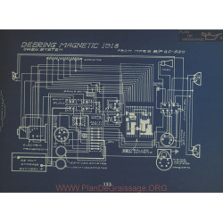 Deering Magnetic Schema Electrique 1918 Owen