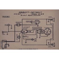 Abbott Detroit 6 44 6volt Schema Electrique 1916 1917 Remy