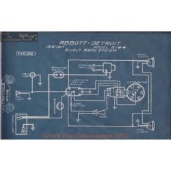 Abbott Detroit 6 44 6volt Schema Electrique 1916 1917