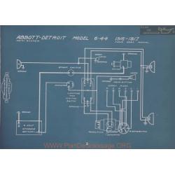 Abbott Detroit 6 44 Remy Schema Electrique 1916 1917