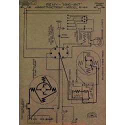 Abbott Detroit 6 44 Schema Electique 1916 1917 Remy