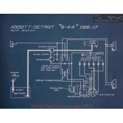 Abbott Detroit 6 44 Schema Electrique 1916 1917