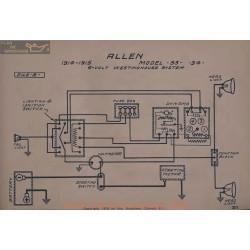 Allen 33 34 6volt Schema Electrique 1914 1915 Westinghouse V2