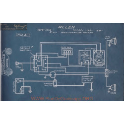 Allen 33 34 6volt Schema Electrique 1914 1915 Westinghouse