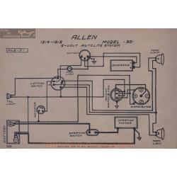 Allen 35 6volt Schema Electrique 1914 1915 Autolite