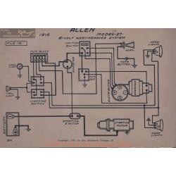 Allen 37 6volt Schema Electrique 1916 Westinghouse V5