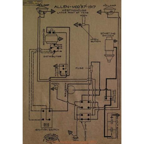 Allen 37 Schema Electrique 1917 Westinghouse V5