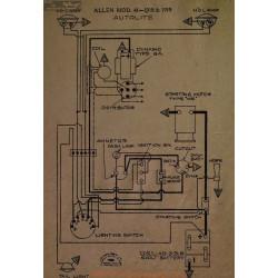 Allen 41 Scema Electrqie 1918 1918 Autolite