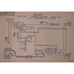 Allen 43 6volt Magneto Schema Electrique 1920 1921 Westinghouse