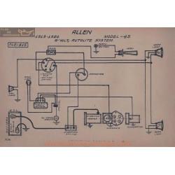 Allen 43 6volt Schema Electrique 1919 1920 Autolite
