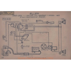 Allen 43 6volt Schema Electrique 1920 1921 Westinghouse