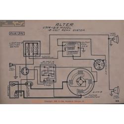 Alter 12volt Schema Electrique 1916 1915 Remy