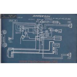Apperson 4 40 45 48 6 6volt Schema Electrique 1915 Bijur