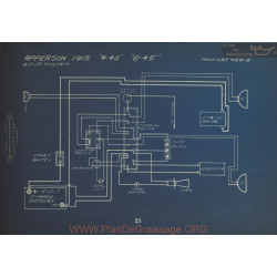 Apperson 4 40 6 45 Schema Electrique 1915 Bijur