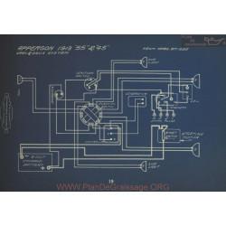 Apperson 55 45 Schema Electrique 1913 Gray & Davis
